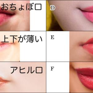 キスしたくなる唇は次のうちどれだと思いますか?