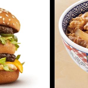 毎日の食事が吉野家、マックならどちらを選びますか?